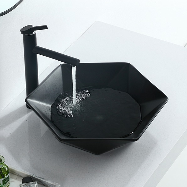 China Art Basins supply -Industrial Style pure black five-pointed Star Art Stage wash sinks from Promise Art basin