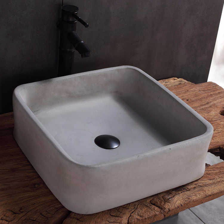 Concrete Sink Refinishing with Polished Surface,Morden & contemporary concrete wash sinks