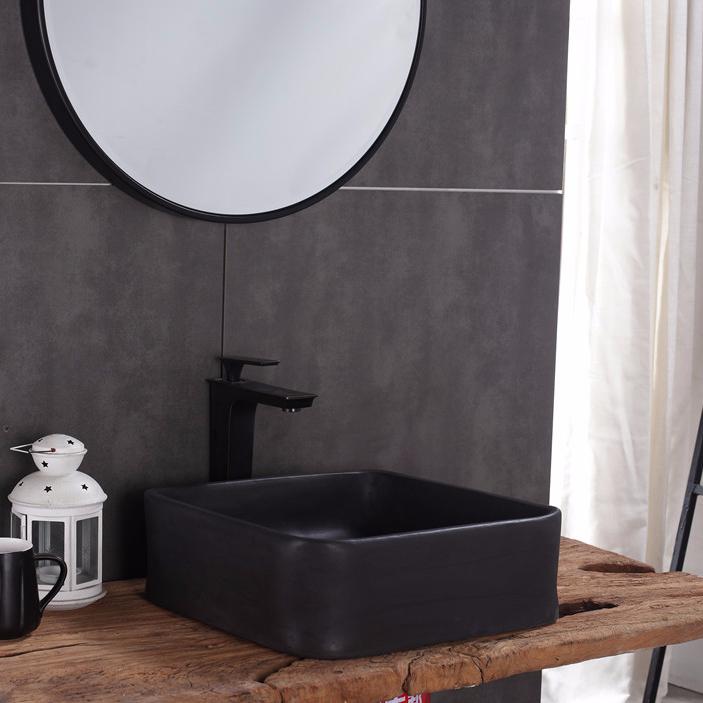 Bathroom concrete terrazzo basin square cement trough farm kitchen sink , china wash sinks supplier