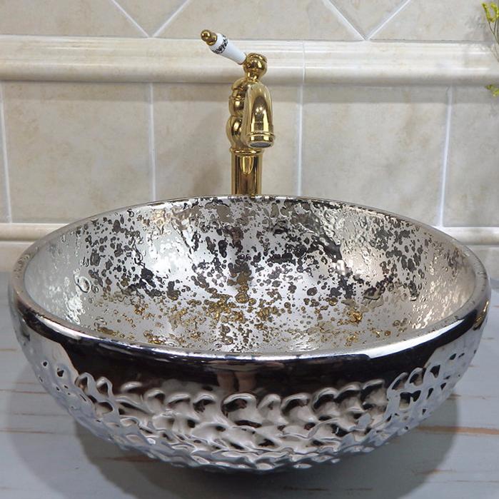 handmade luxury bathroom basins electroplating get quote Hotel