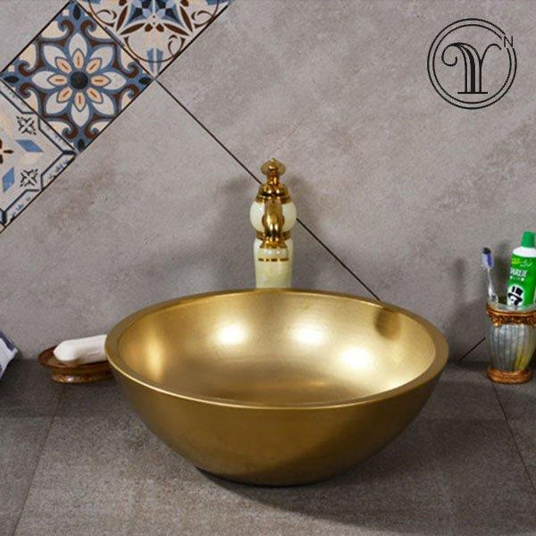 Luxury gold art basins factory in China