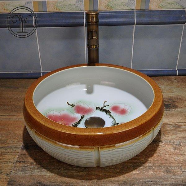 Colorful and hand paint wash sinks hot selling in Singapore