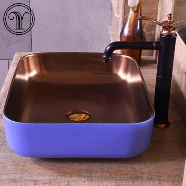 Quality guarante of rectangular art basin hot selling in London
