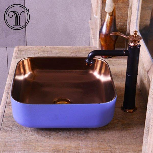 Guaranteed for 1000 years metal glazed wash basins which never faded