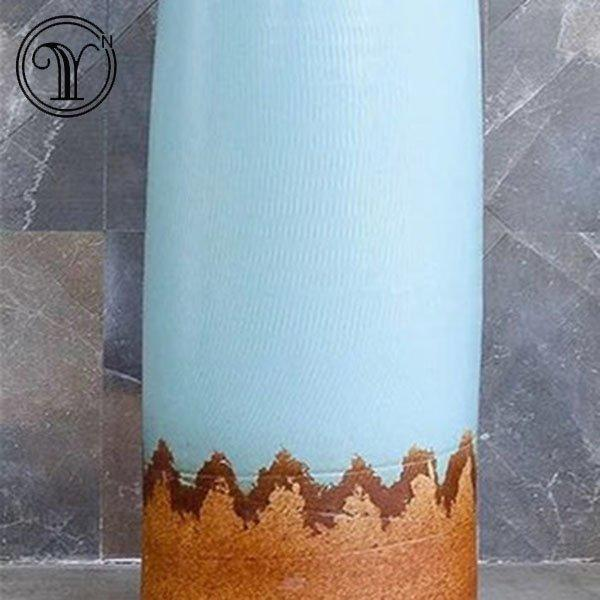 Beautiful and colorful column basins of hot selling pedestal wash sinks