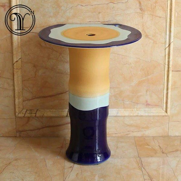 2018 new designs of colorful column basin series