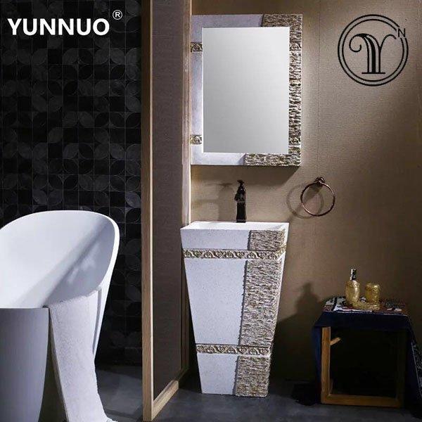 Sandstone wash basins with vanity designs