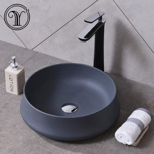 High-end custom gray color artificial stone art basin quotation