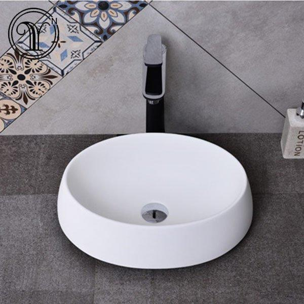 Industrial style of white designs artificial stone basins