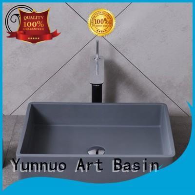 Yunnuo art basin big sinks for sale artificial stone open-air lounge bar