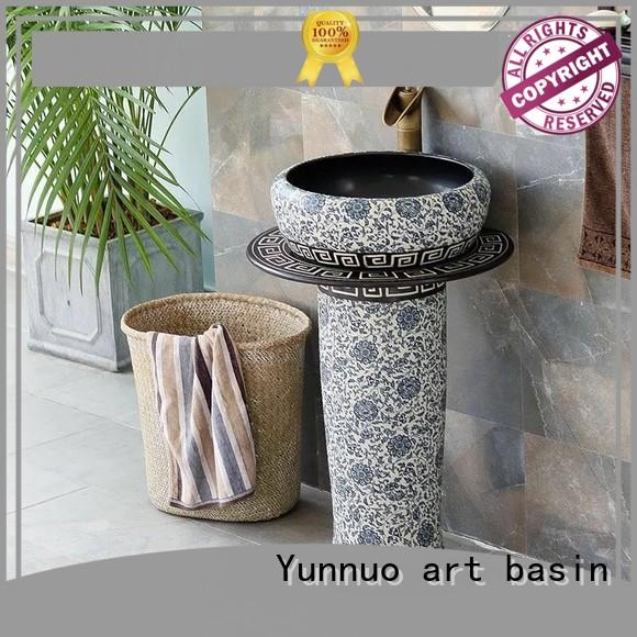 Yunnuo art basin high-quality wash basin set designs handmade patio