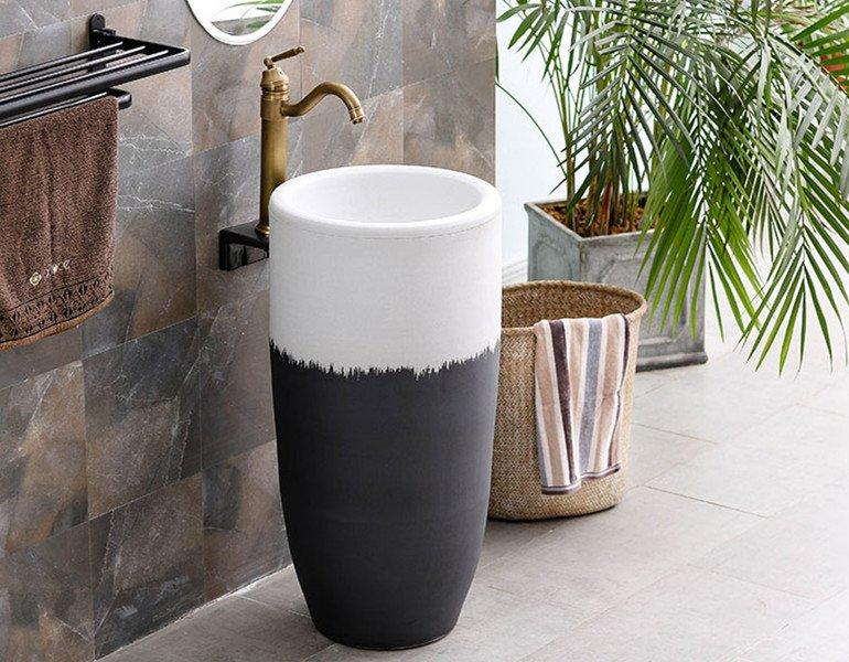 Industrial style of pure handmade basins with high temperature fired