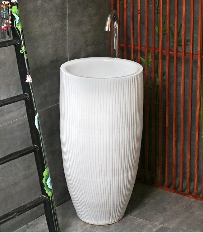 Pedestal handmade wash sink of bathroom products
