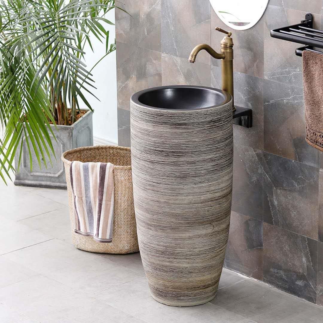 Pedestal wash basin sink with customization service