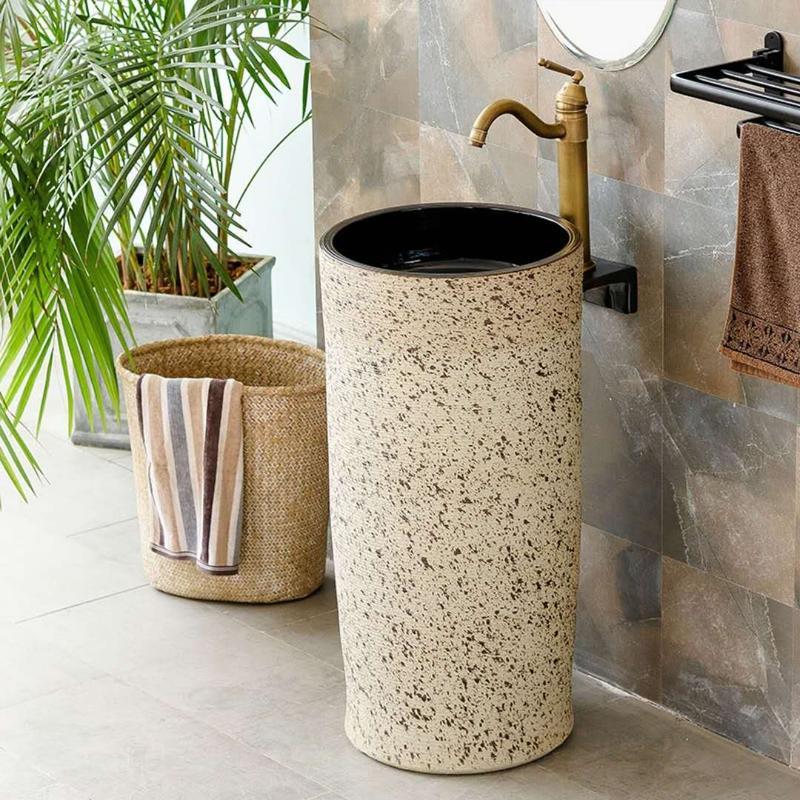 Manufacturer wholesale price hotel pedestal wash basin and free standing sink