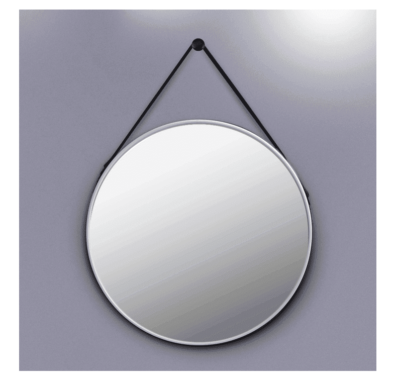 Two colors industrial style round mirrors for bathroom