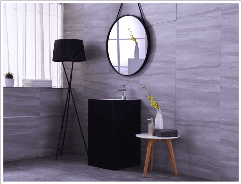 The newest design black color artificial Stone pedestal wash basin