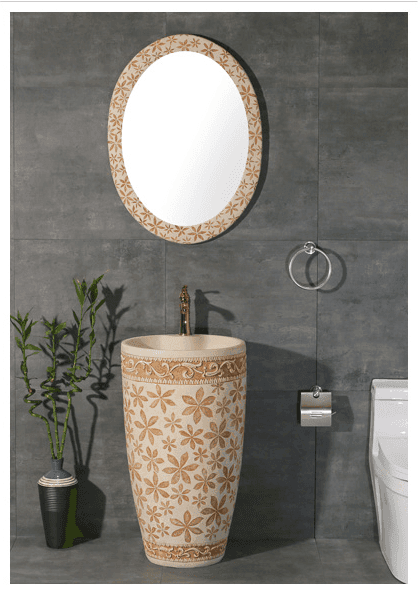 High quality and luxury bathroom sandstone basin