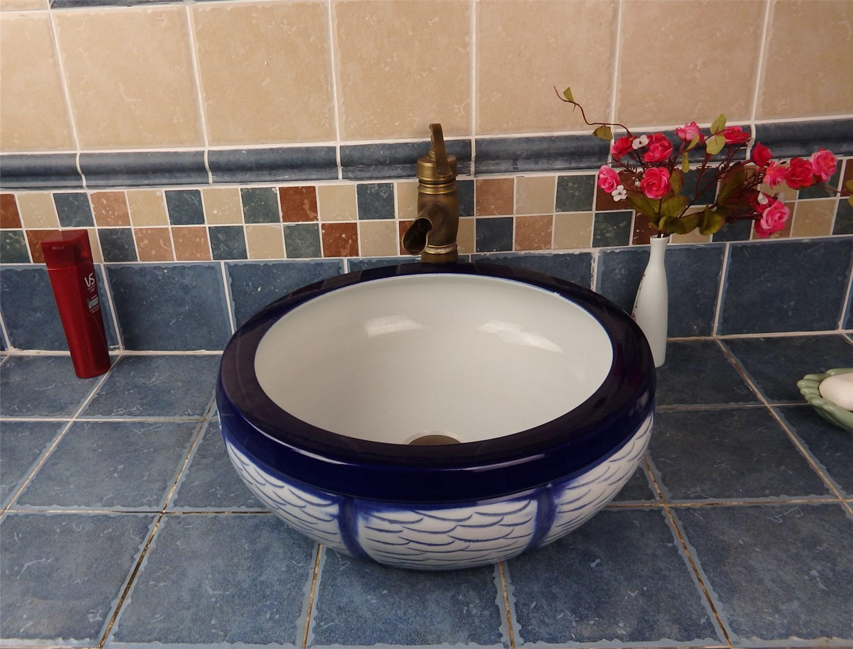 China sanitary ware factory glazed surface porcelain wash basin