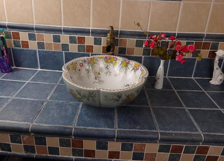 OEM&ODM for petal shape handmade wash basins