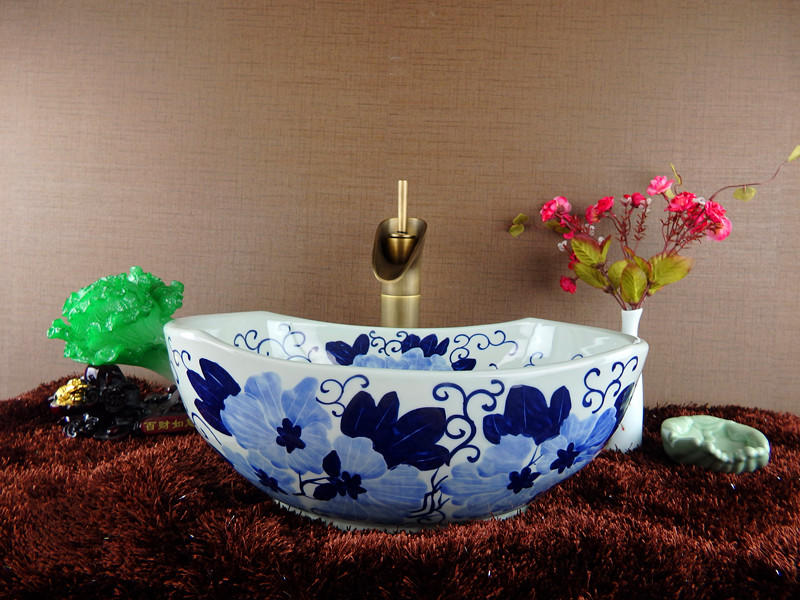 The best price of blue and white porcelain basins