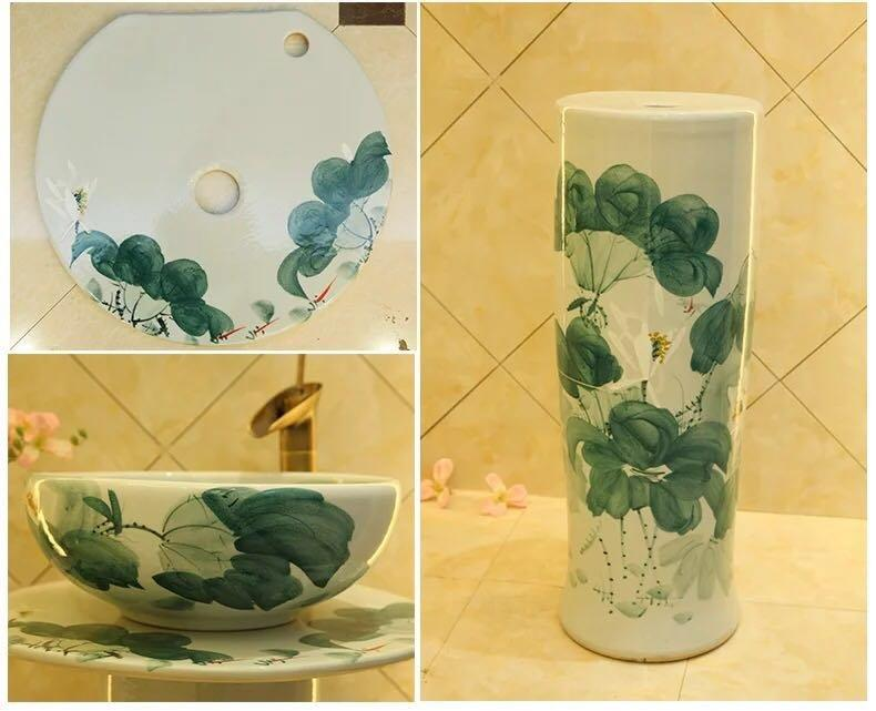 Hand-painted column basins with thousands designs