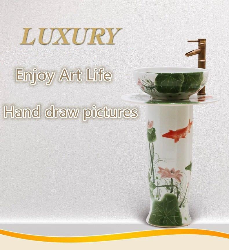 Hand-painted art basins for hotel&bars&homes