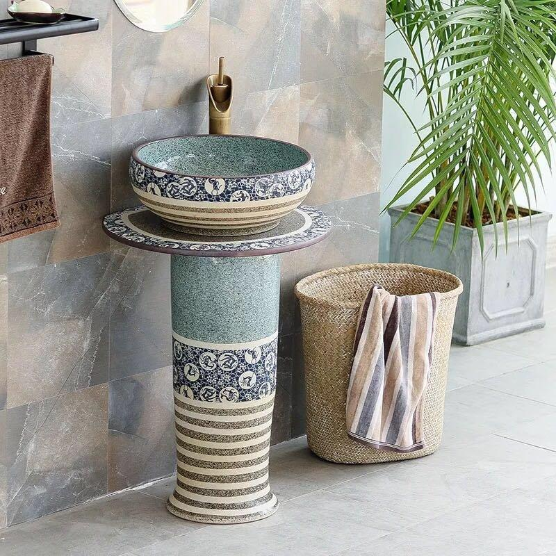 Stylish pedestal wash basins from the biggest supplier in China