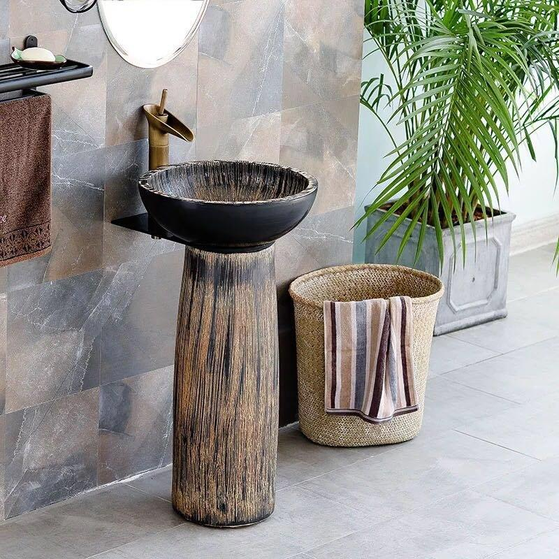 The best supplier of pedestal wash sink in colorful designs
