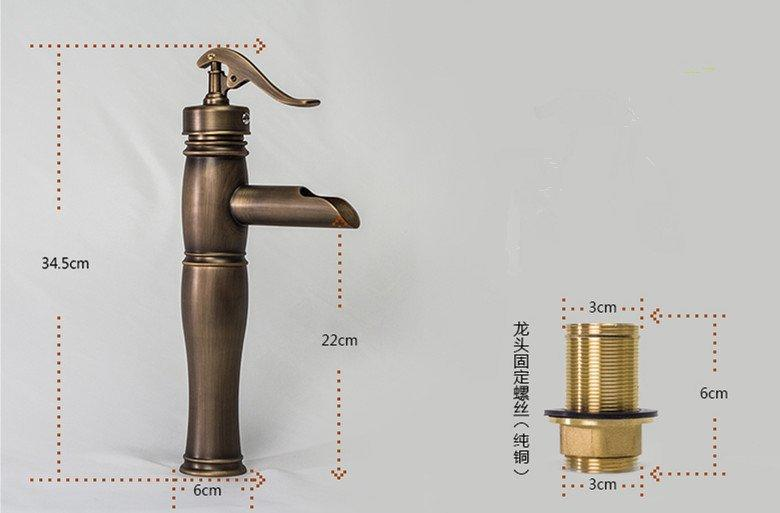 Luxury bathroom of hot and cold high hole brass faucet