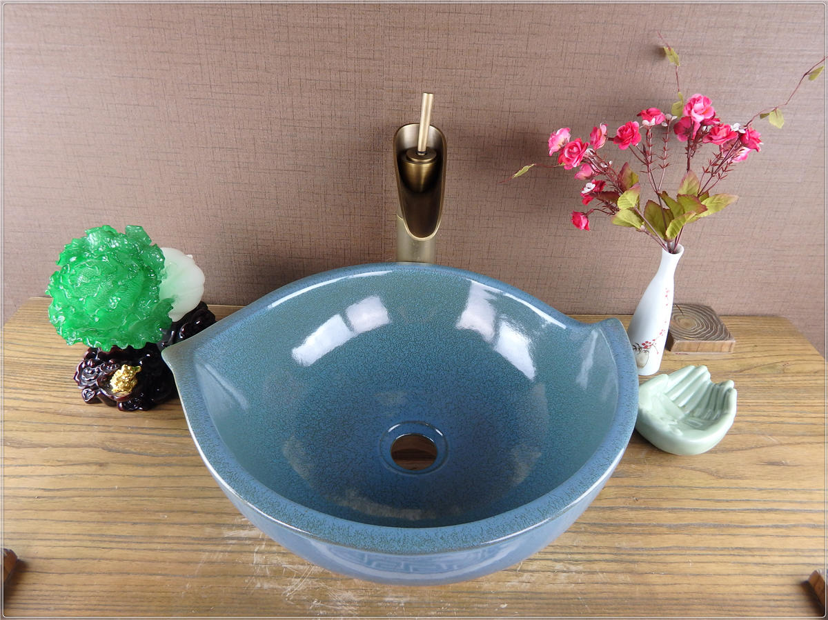 China factory direct sale above counter ceramics round hand wash basin
