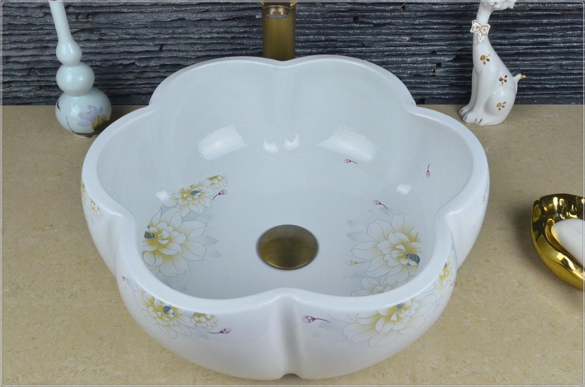Special price for modern industrial style white wash sinks