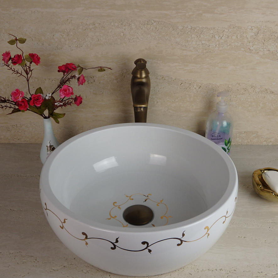 Foshan Promise Art Luxury high end Wash Basin Sink for Hotel