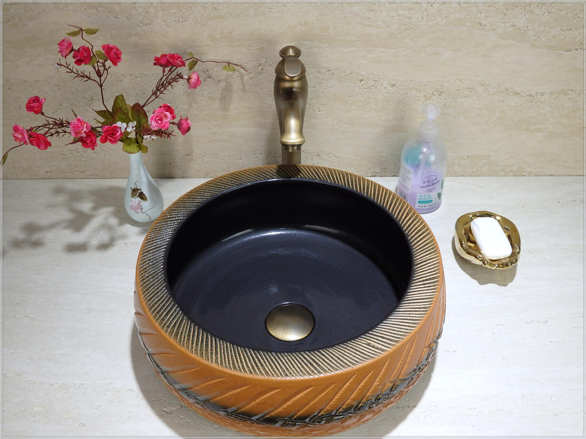 Hot sale toilet basin counter top solid surface antique basins with beautiful design sinks