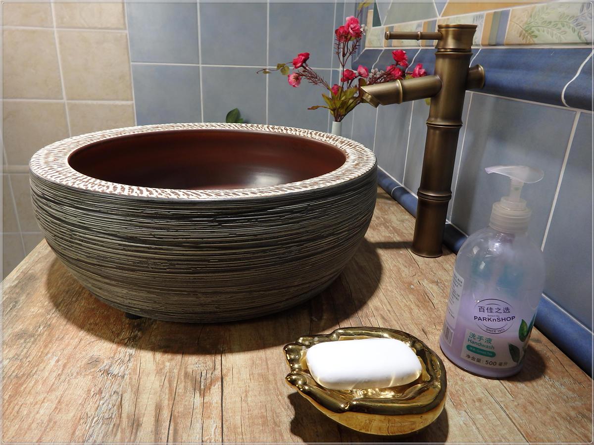 Porcelain  bathroom wash basin round shape from Promise Art Basin