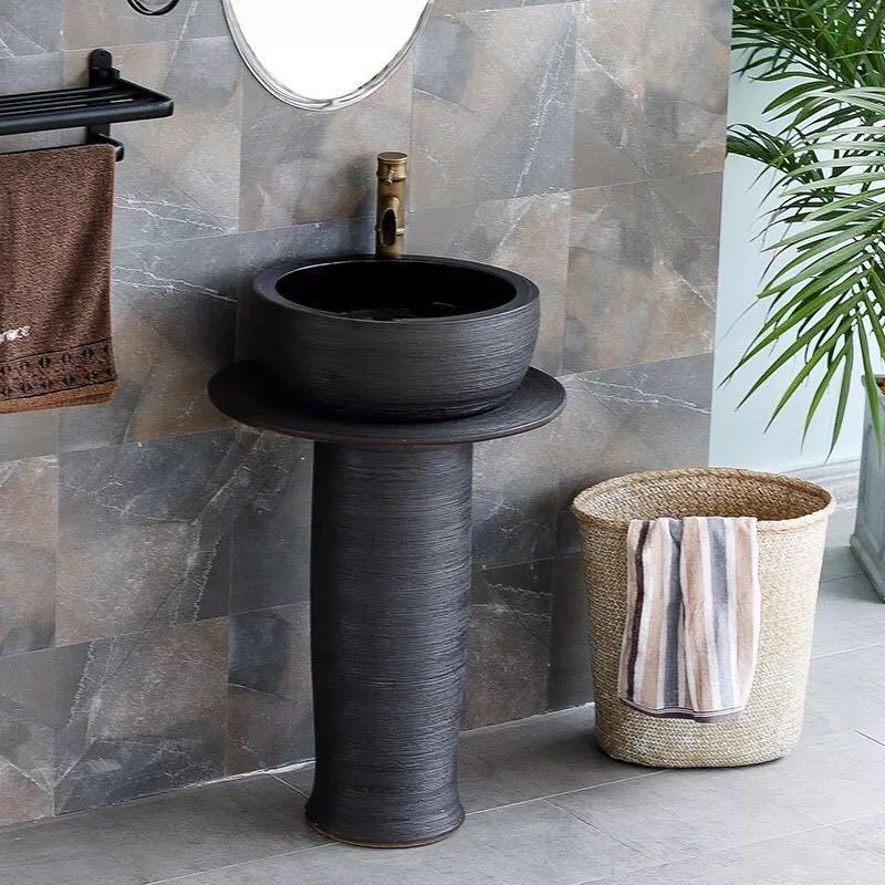 Free Standing wash sinks of bathroom  Industrial wind art basin