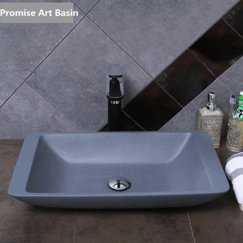 Design bathroom wash basins manufacturers of China stone resin artifical sink