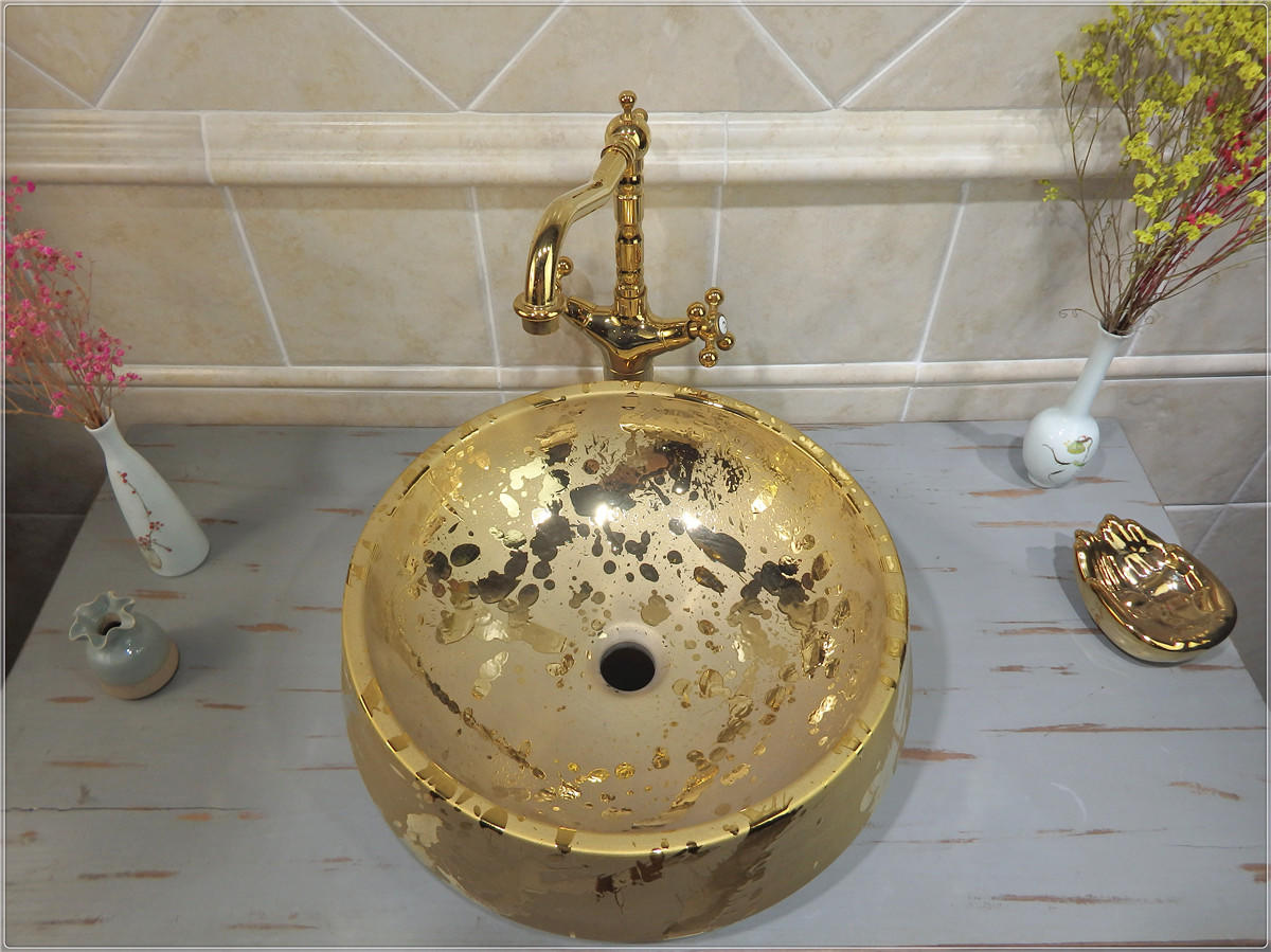 The best price for gold color wash sink and bathroom basin