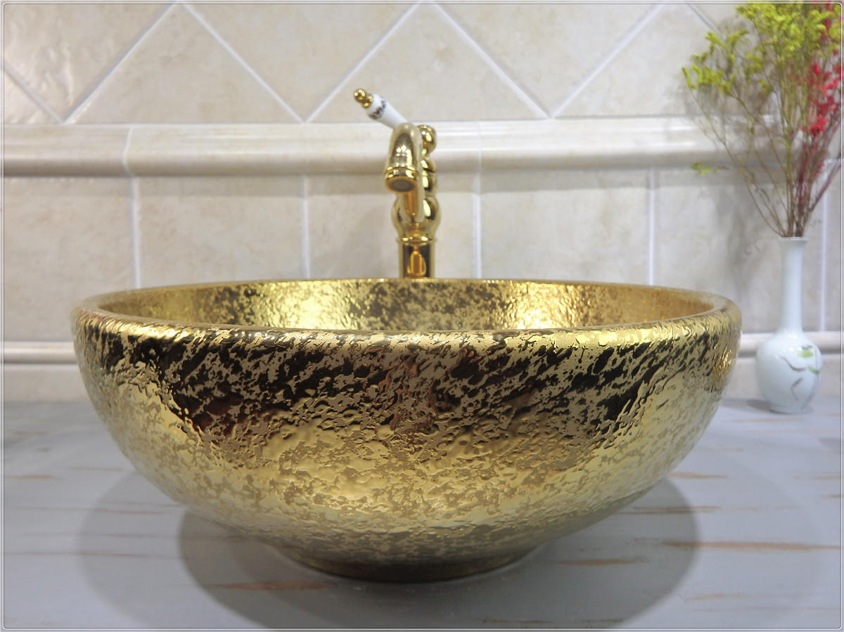 Hot selling designs of gold basins in Saudi Arabia
