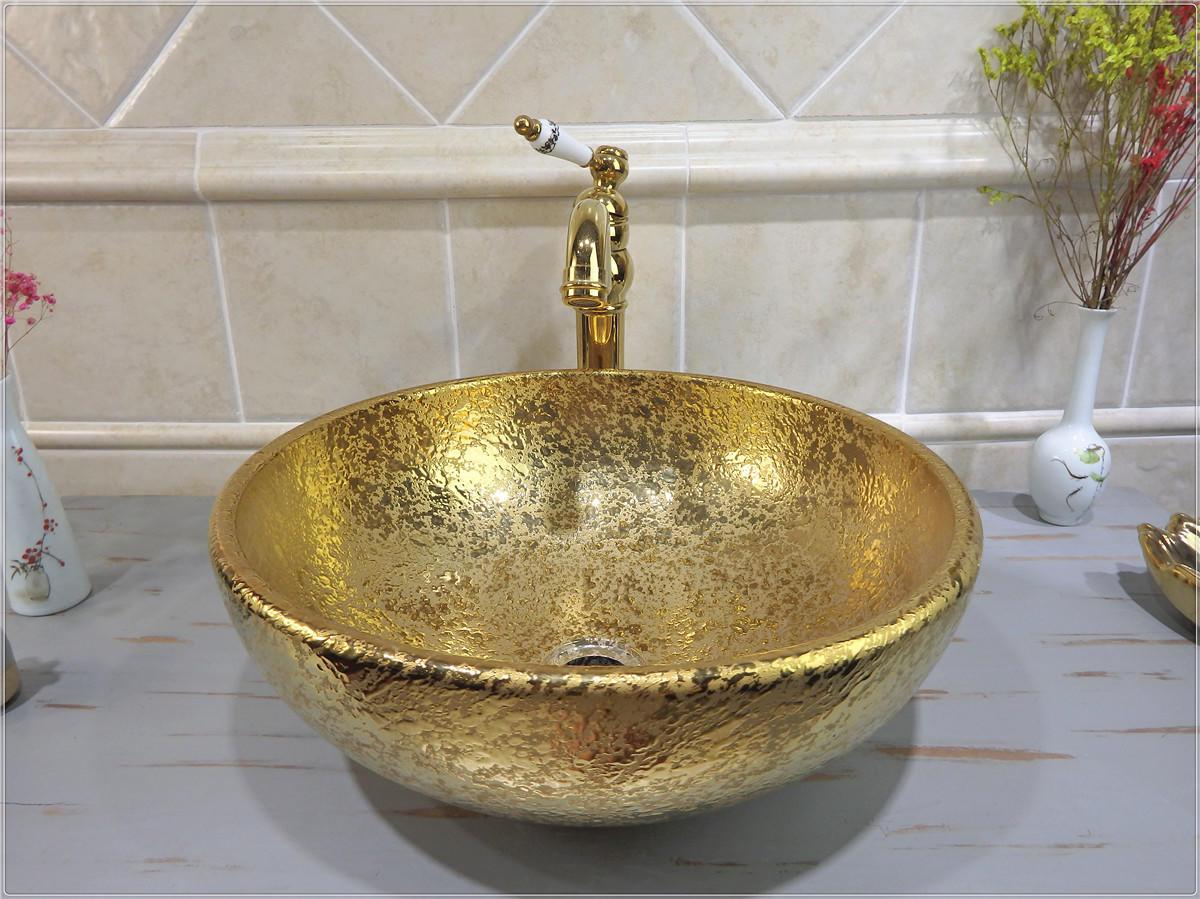 Hot selling designs of gold basins in Saudi Arabia