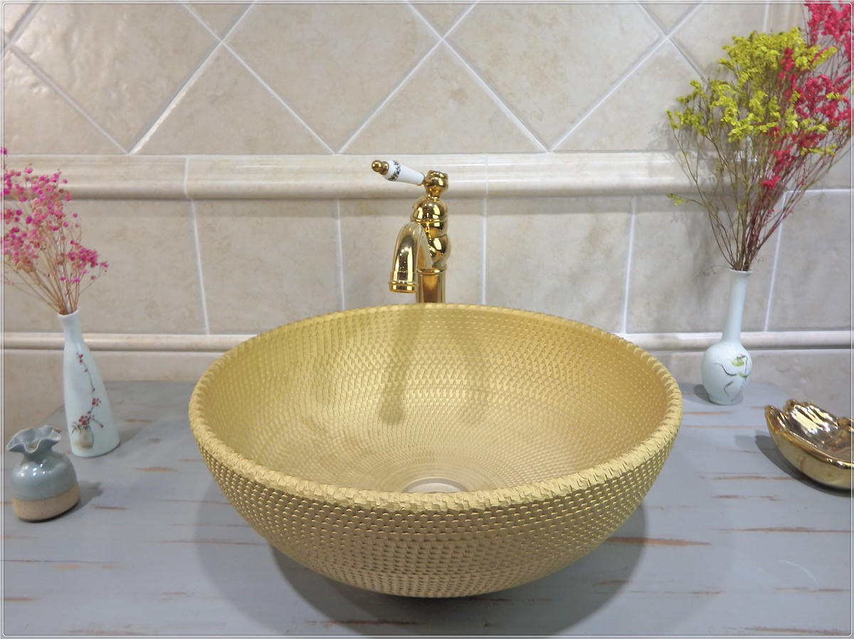 Countertop Sinks Directly Factory gold wash basin promotion