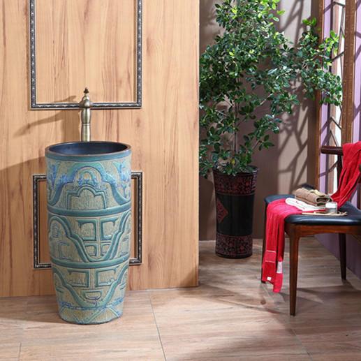 bronze-colored Ceramics Pedestal Wash sinks & Wash Basins for Bathroom decor & Home decor