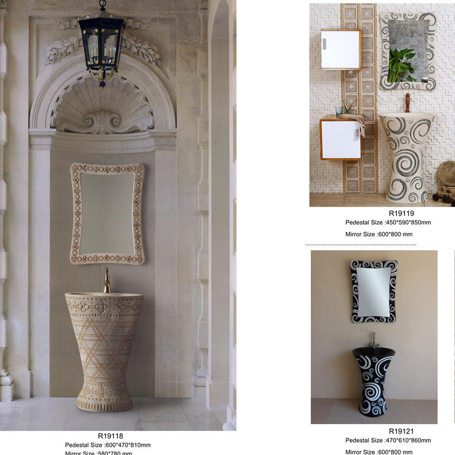 2019 Yunnuo Sandstone Pedestal Wash Sinks Catalogue