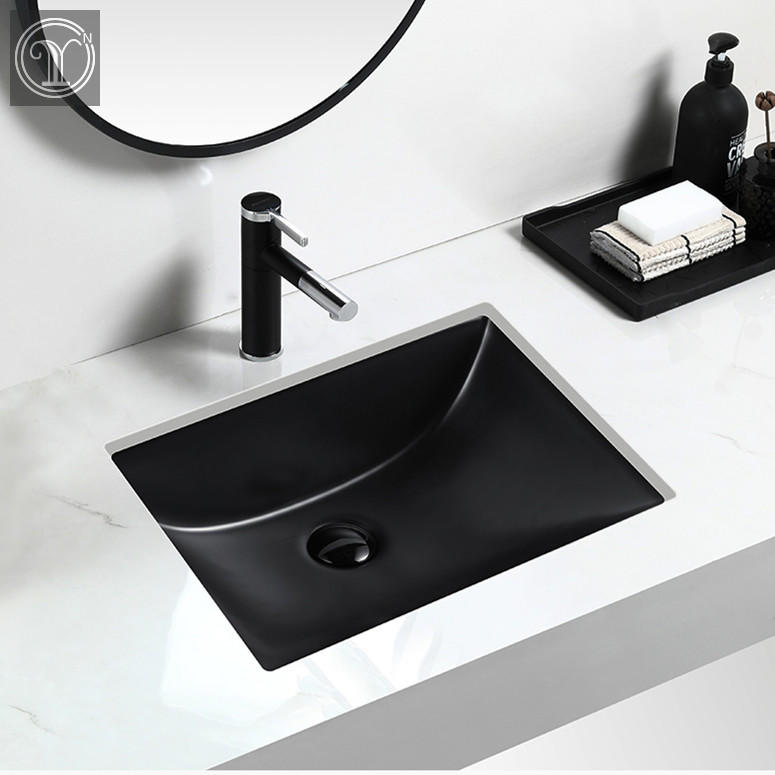 2019 New design Matt Black color under counter basins with high quality and good price