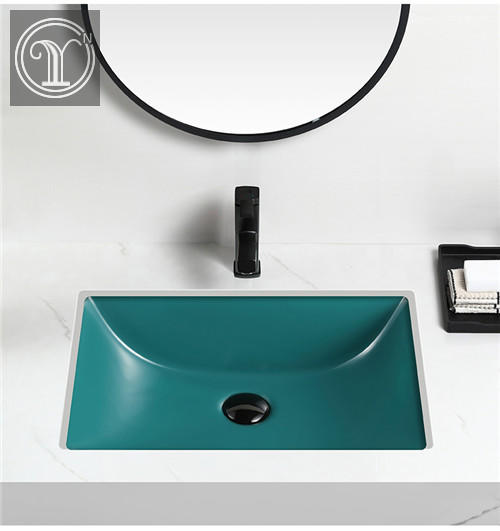 High quality Matt color Ceramic under top wash basins for cabinet and home decor