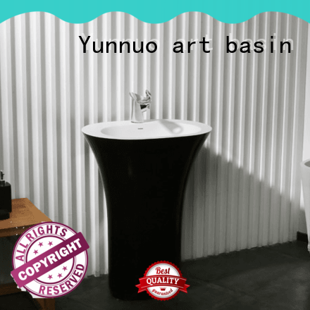 Yunnuo art basin best design stone countertop basin colorful open-air lounge bar