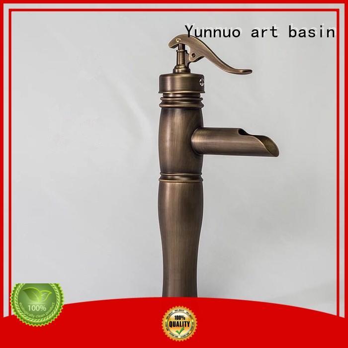 Yunnuo art basin bamboo bathroom mixer taps high quality patio