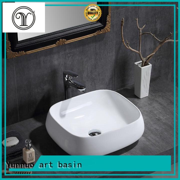 Yunnuo art basin ware ceramic kitchen sink for 500mm cabinet bistro