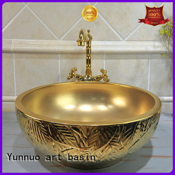 Yunnuo art basin basins luxury bathroom basins get quote open-air lounge bar