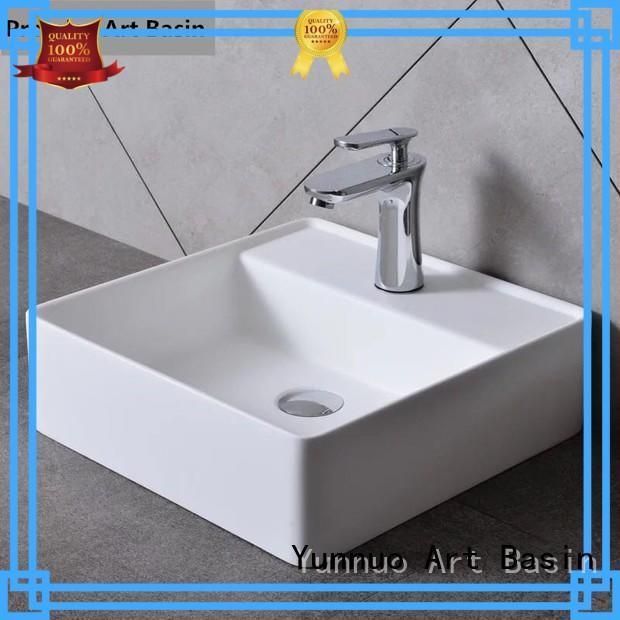 Yunnuo art basin pedestal countertop bathroom basins professional open-air lounge bar